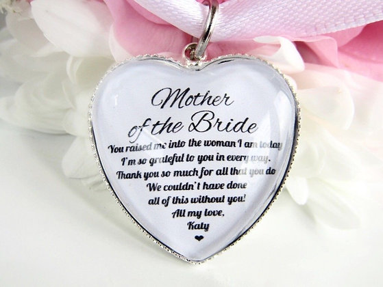 Mother of the Bride 'Raised me' Bouquet Charm