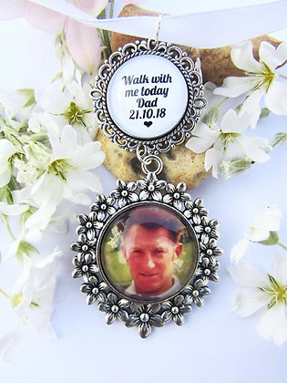 Photo and Quote Memory Bouquet Charm