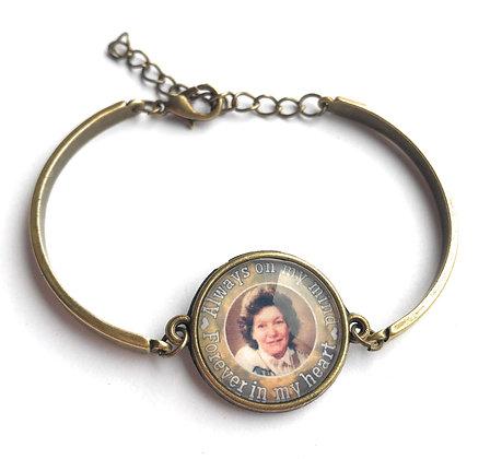 Bronze Photo Memorial Bracelet