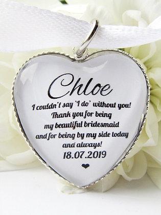 Bridesmaid 'I Do' Bouquet Charm