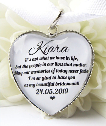 Bridesmaid 'Glad to have you' Bouquet Charm