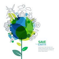 緑と地球のイラスト