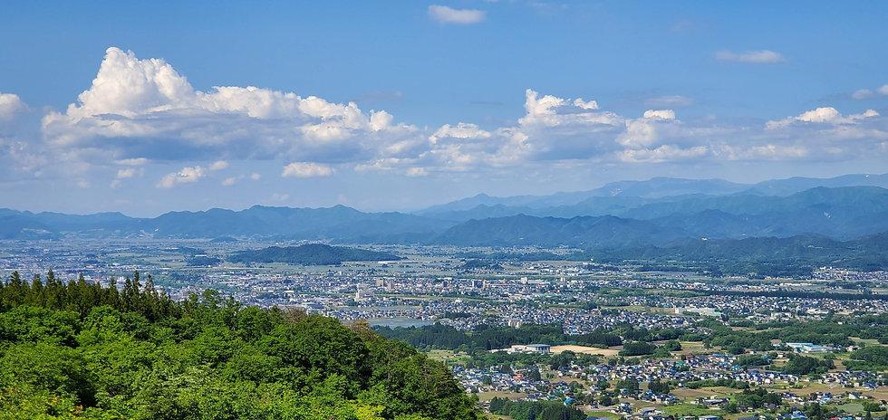 山形県米沢市の眺め