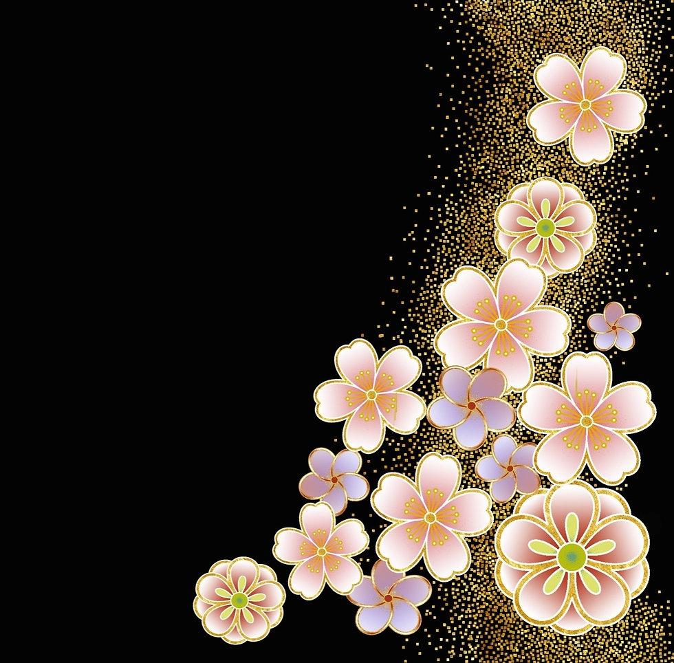 畠中桐タンス背景桜