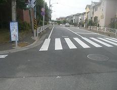 加賀原歩道拡幅工事 (1)