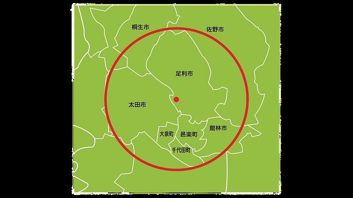 訪問地域図