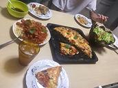 調理後食事風景