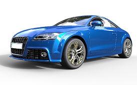明るい青い車