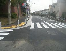 加賀原歩道拡幅工事 (2)