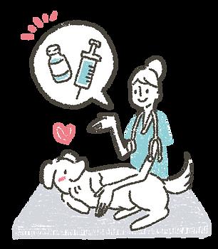 犬と獣医師