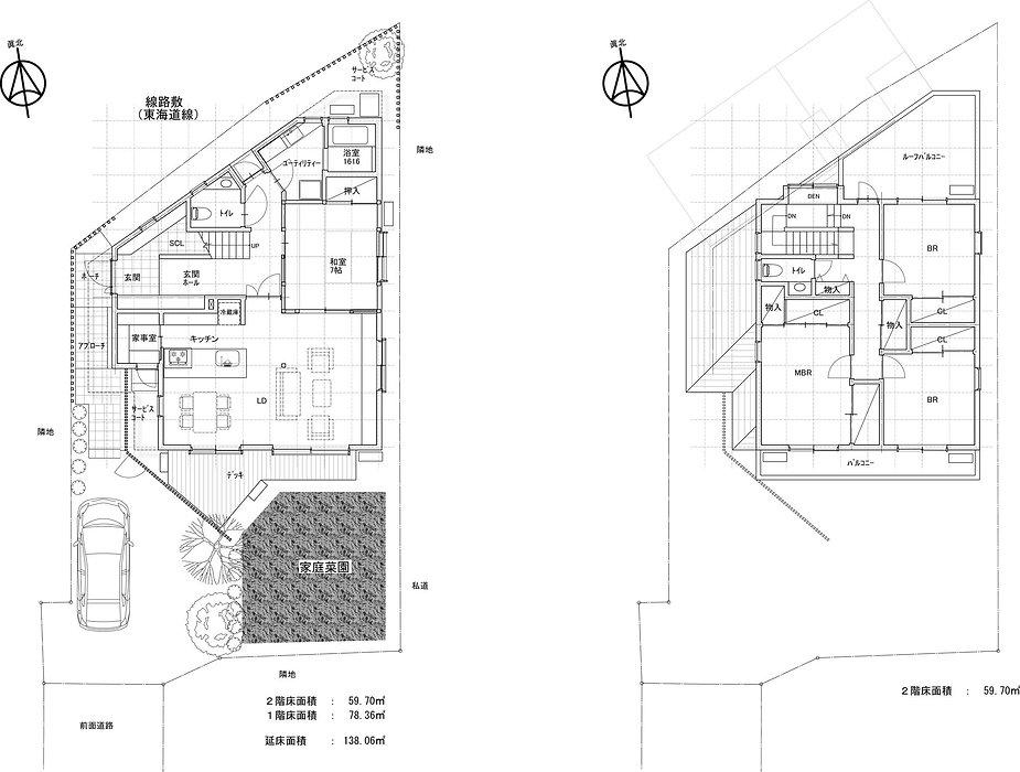 茅ヶ崎HouseN平面計画図