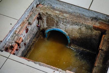 厨房内の排水溝