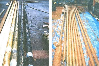 揚水管の水中ポンプ