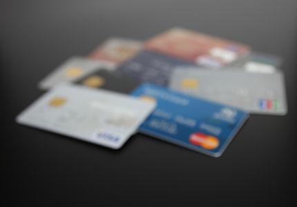 大量のクレジットカード