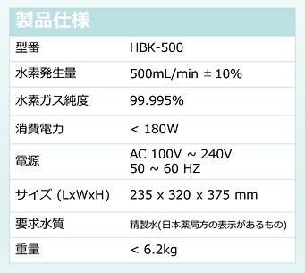 水素 HBK500-1