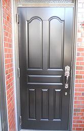 玄関ドア取替前取替後