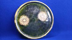 織部菊文油皿(江戸時代)