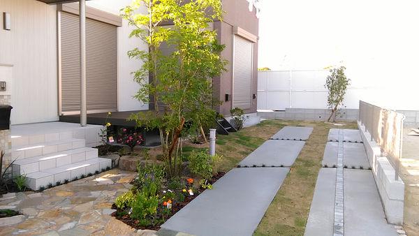 施工後の庭