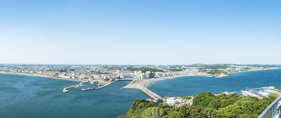 湘南の島からの眺め