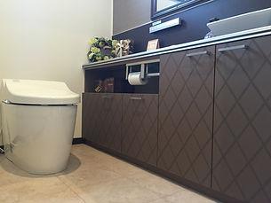 トイレ 造作手洗いカウンター