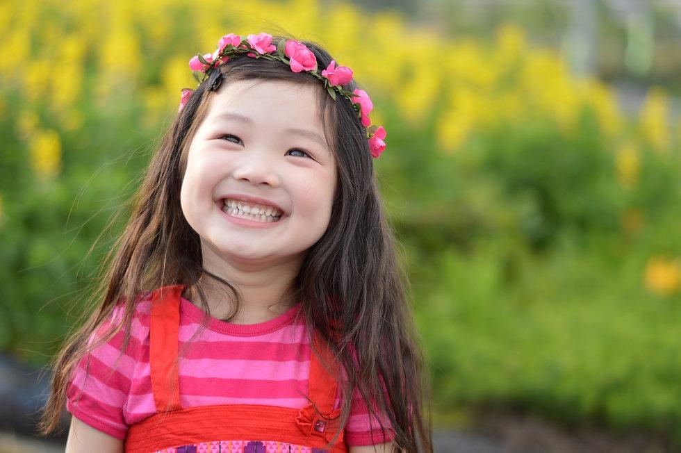 きれいな歯の女の子