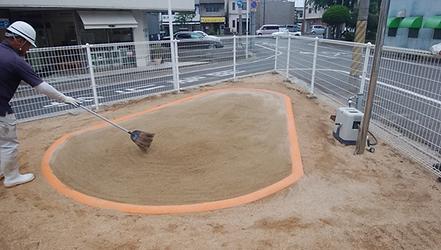 保育園の砂場