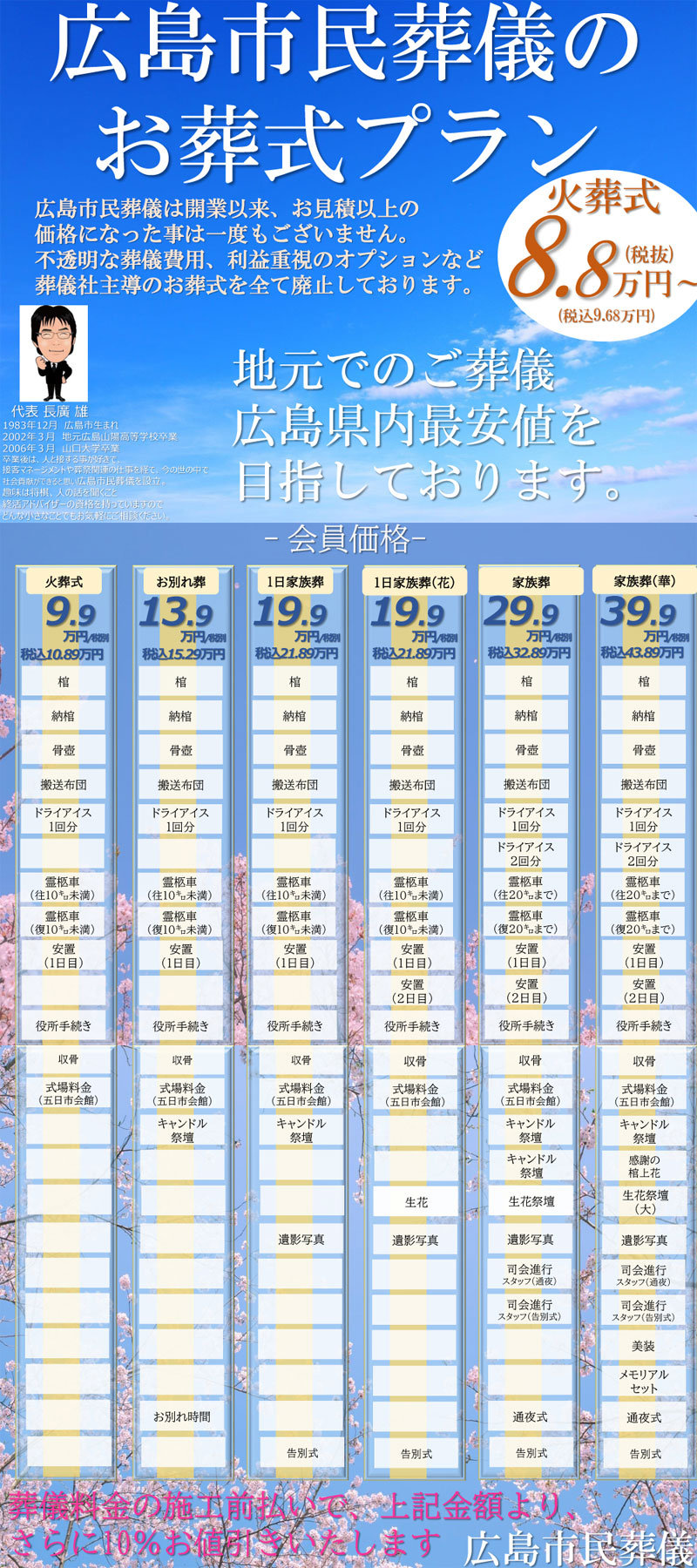 広島市民葬儀新料金表