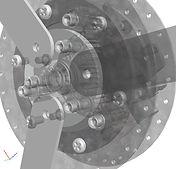 逆進防止車輪3D図面