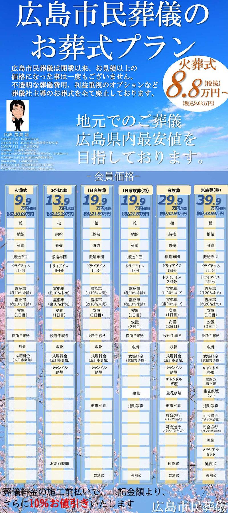 広島市民葬儀料金表