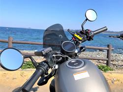 海とオートバイ