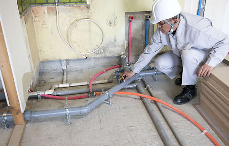 室外の水道詰まり修理