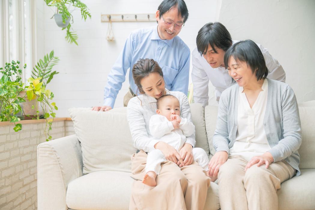 家族の笑顔