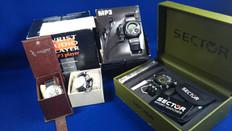 クオーツの未使用箱付き電池時計、強化買取。手巻き自動巻き大歓迎