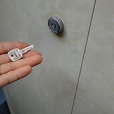 鍵が作成でき、開けることができました