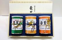 【冬期数量限定】VZS-124 受賞茶 御来光・贅の極・翠峰100g×缶箱入 12,400円+税