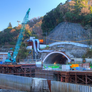 トンネル工事現場