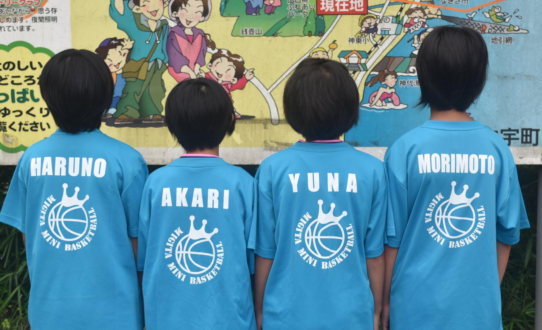 子供バスケTシャツ