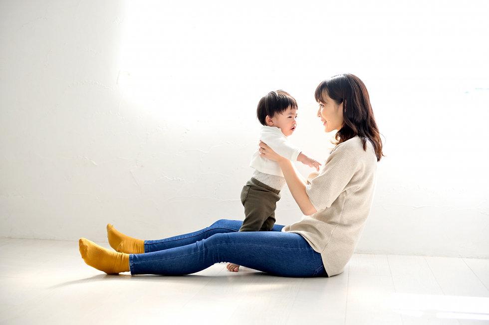 母親と幼児