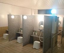 ご利用案内の内原元湯温泉の洗い場