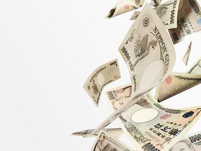 落下する大量の紙幣