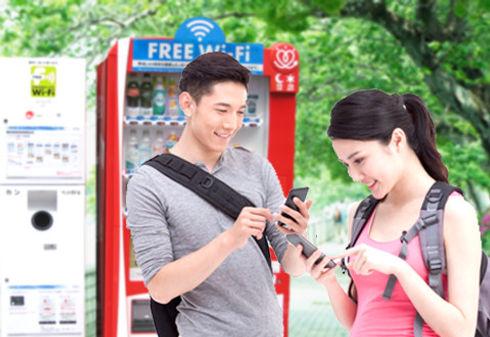 フリーWi-Fi付き自動販売機の設置で従業員の満足度を高める