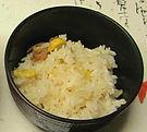 橋本荘お料理芋煮汁と栗ご飯
