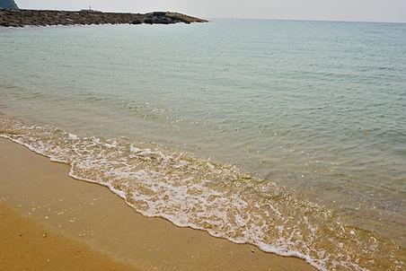 見島の砂浜