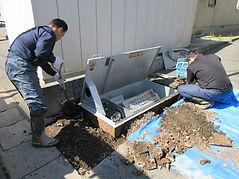 埋設型融雪機工事
