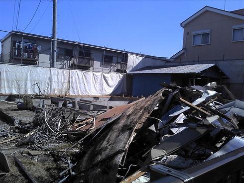 業務内容の一般住宅の解体
