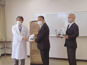 64期岐阜県立多治見病院に医療用マスクを寄付