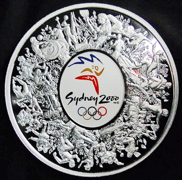 貨幣_シドニーオリンピック記念1kg銀コイン