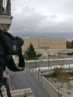 Live shot of the greek parliament