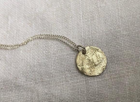 Moon Pendant on 42/45cm Silver chain
