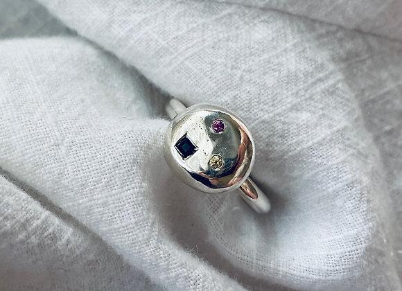 Starscape Multi-coloured Sapphire ring Size L